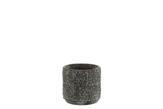 Portavaso Fiori in ceramica color grigio