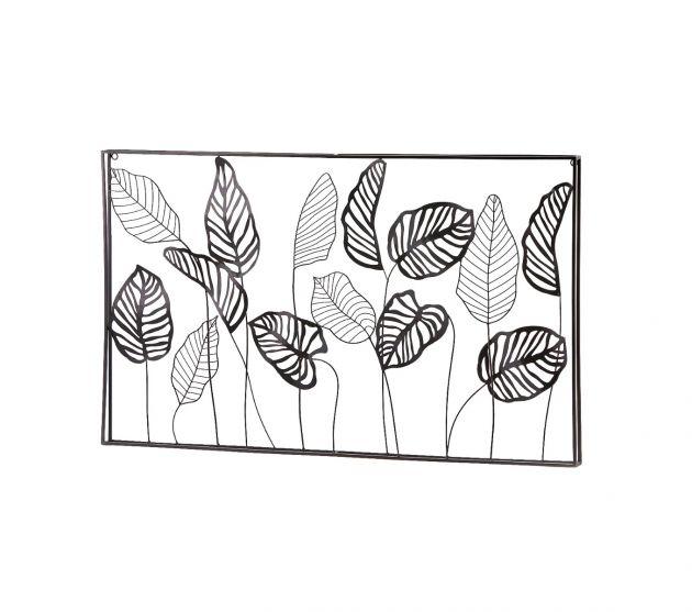 Quadro foglie metallo H60x100
