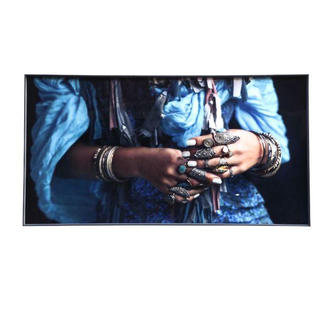 Quadro Melani Art Mani di Donna| Quadro in vetro temperato con cornice in alluminio