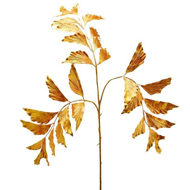 Ramo artificiale di Caryota dorato H106 : Rami dorati artificiali di qualità