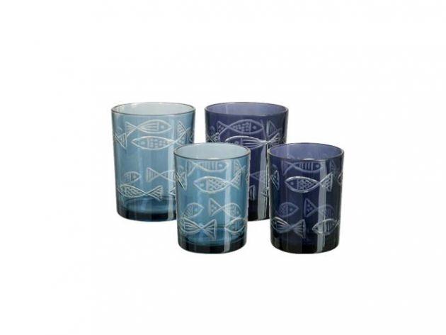 Set Bicchieri Portacandele: portacandele in vetro J Line