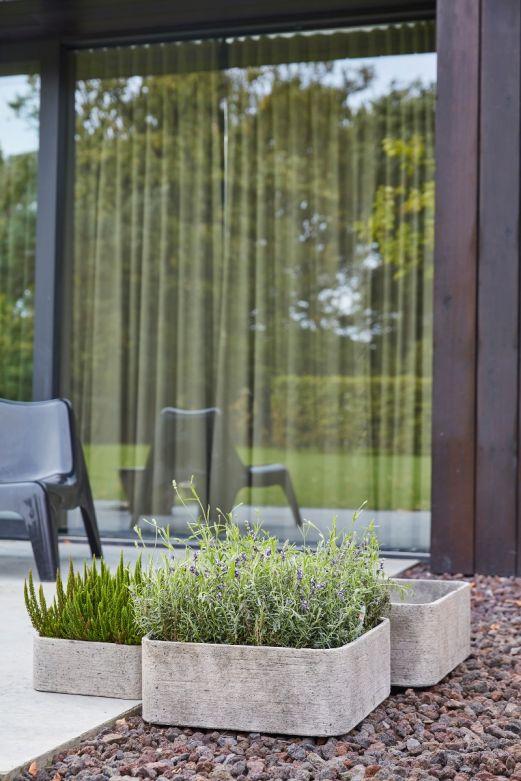 Set 2 ciotole Rough: vasi in cemento da esterno D&M