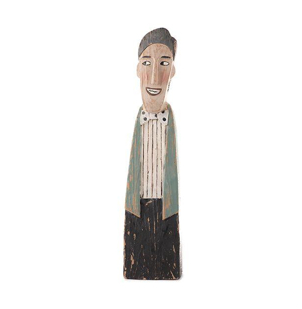 Statuetta in poliresina uomo con papillon : Statuette divertenti raffiguranti persone