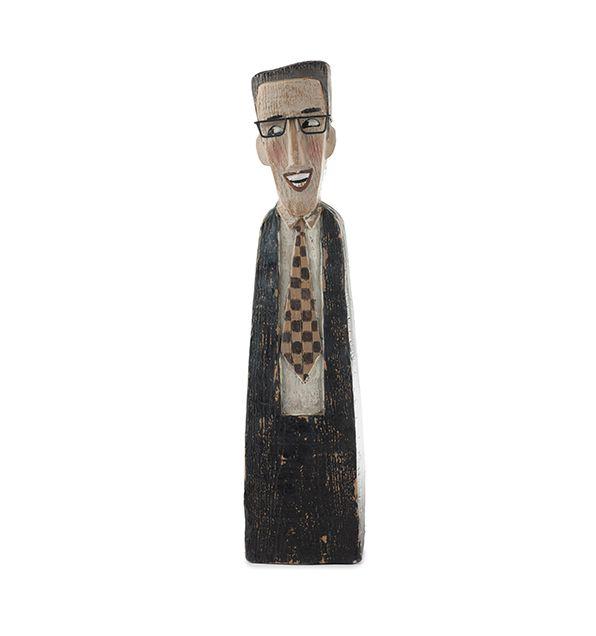 Statuetta in poliresina uomo con occhiali : Statuette divertenti raffiguranti persone