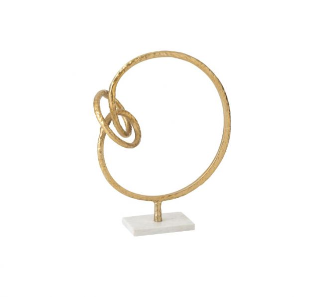 Statua anello con nodo su base in marmo