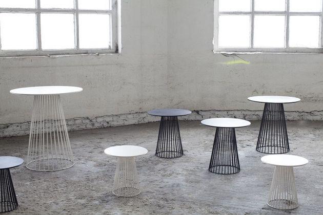 Tavolo bistrot in ferro H70 Serax Antonino Sciortino design