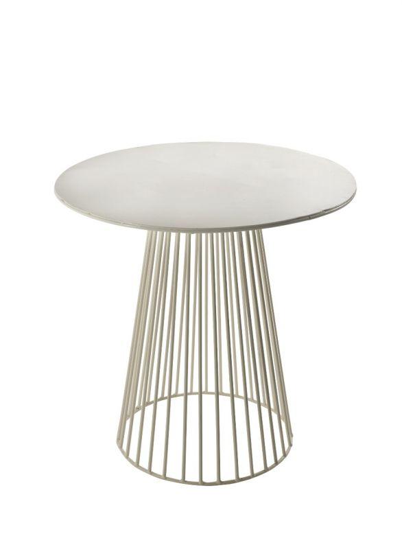 Tavolo bistrot in ferro bianco H40 Serax Antonino Sciortino design