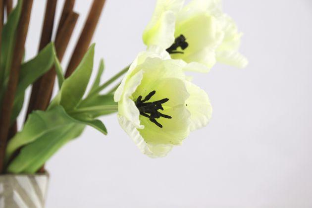 Tulipano olandese bianco: fiori artificiali di alta qualità