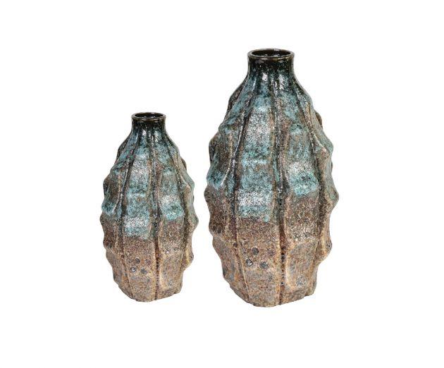 Vaso Bottiglia in Ceramica Selena blue: Vasi Design PTMD