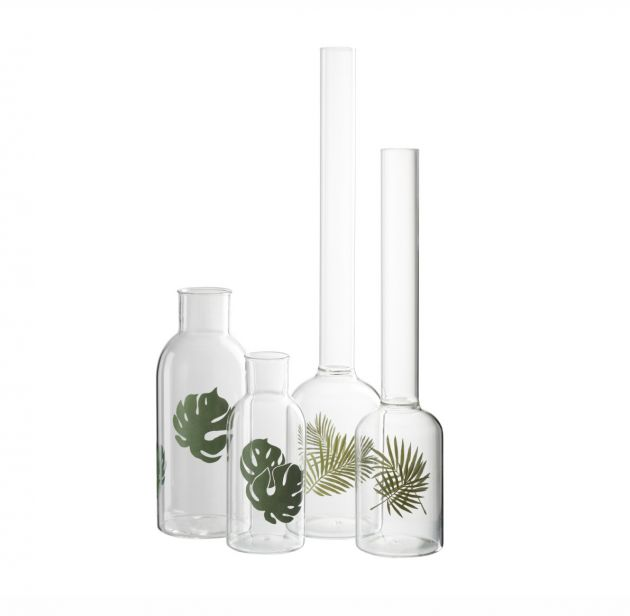 Vaso collo stretto: vasi in vetro trasparenti J Line