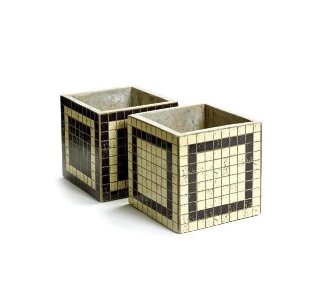 Cachepot Marie Mosaico riga: vasi in cemento Serax