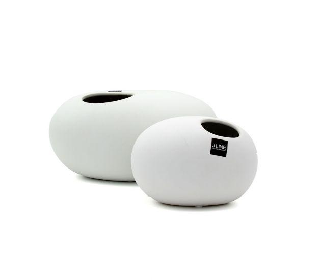 Vaso Palla : vaso in ceramica opaca bianca