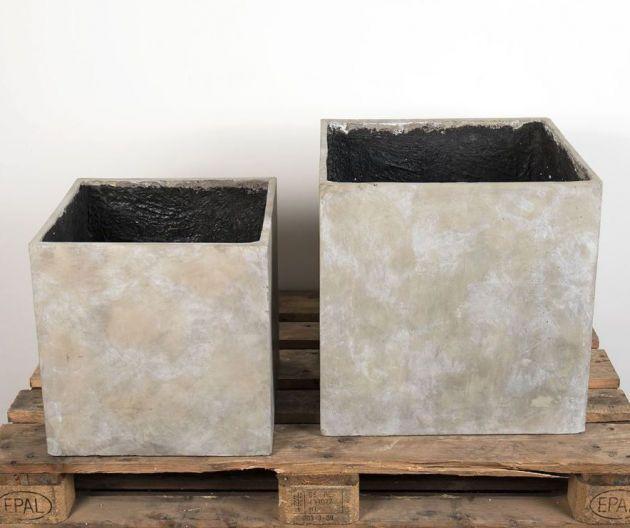 Cachepot Cubo: vasi in cemento da esterno