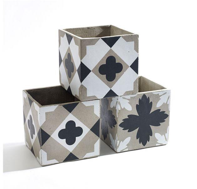 Cachepot Feeling : Set 3 vasi in cemento Serax