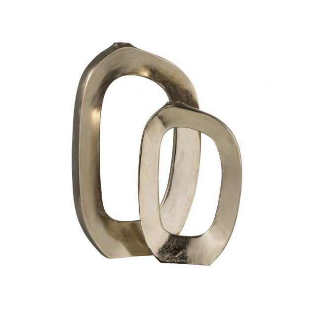 Vaso Ovale aperto Oro H40 : Vasi di design in metallo