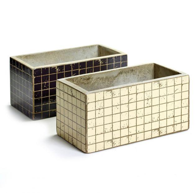 Cachepot Marie Mosaico rettangolare : vasi in cemento Serax