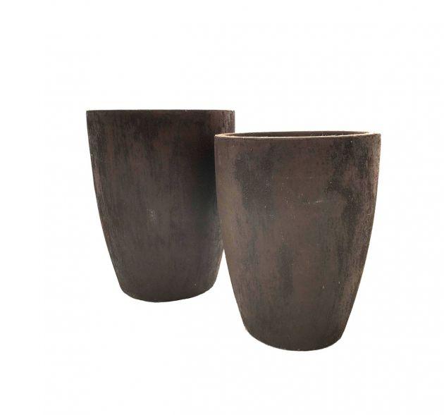 Vaso Alto Rust  Corten : Vasi di design da esterno