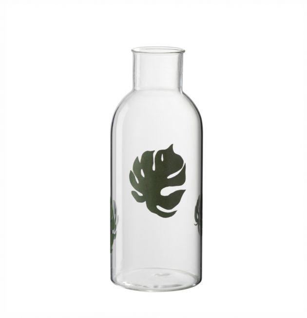 Vaso bottiglia Foglia: vasi in vetro trasparenti J Line
