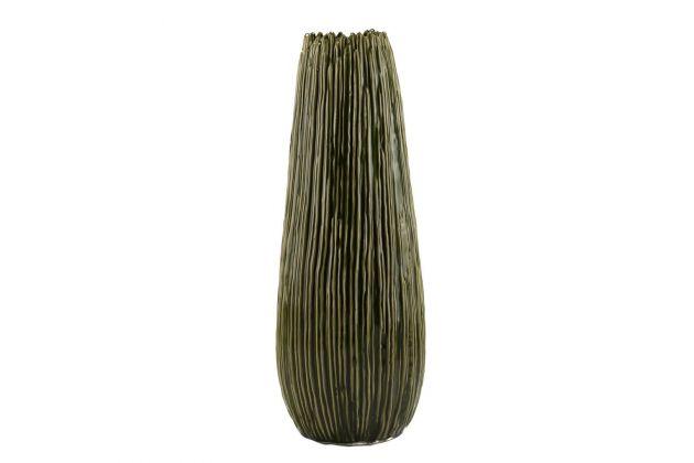 Vaso verde ceramica H52: vasi design EDG