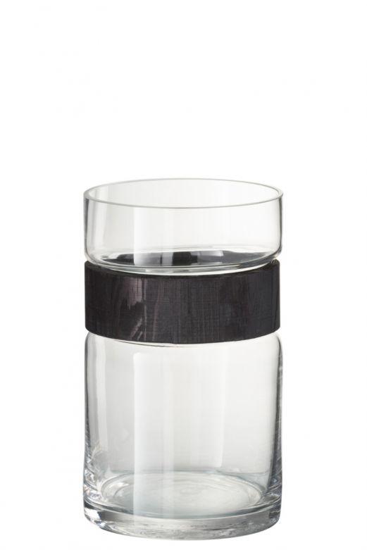 Porta candela Teo H20: vasi portacandele in vetro trasparenti J Line