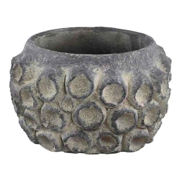 Vaso Amalia in cemento grigio