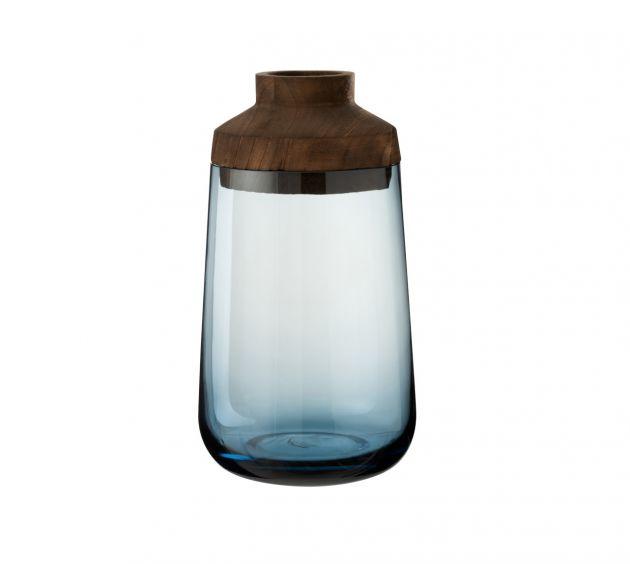 Vaso Tweede H33 : vasi di design in vetro e legno