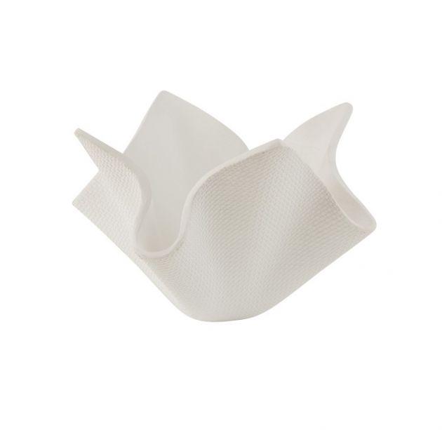 Vaso fazzoletto in cemento bianco H40