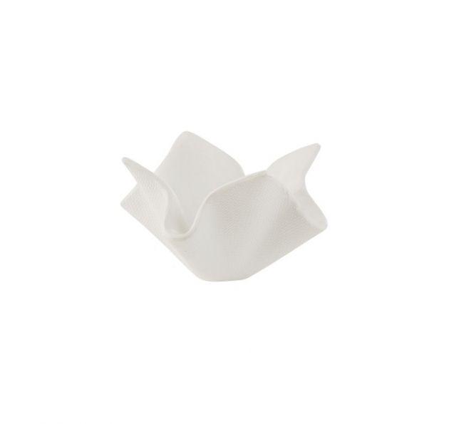 Vaso fazzoletto in cemento bianco H25