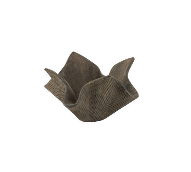 Vaso fazzoletto in cemento grigio H25