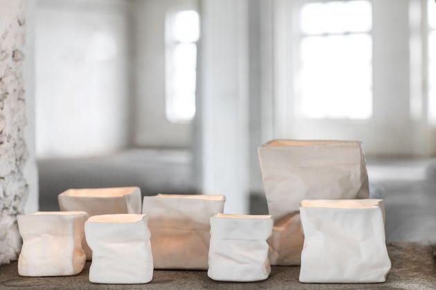 Portacandela Paper Bag: vasetti portacandele, cachepot Serax