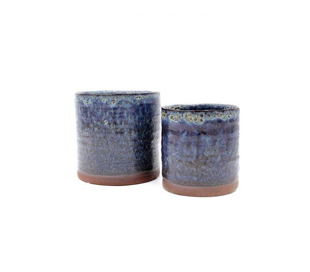 Vaso Imaan in ceramica blue
