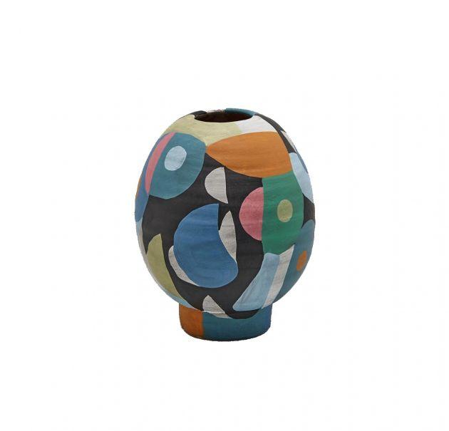 Vaso Crazy multicolor bombato H24
