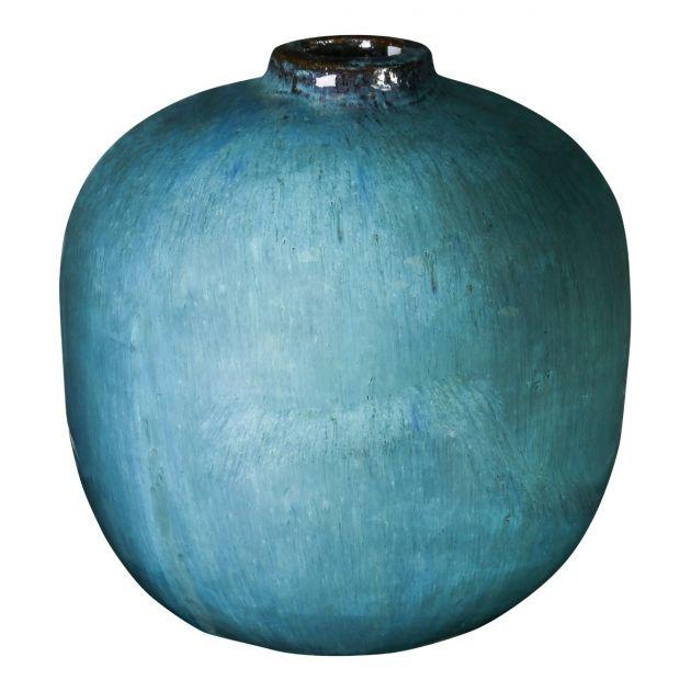 Vaso blu di terracotta Kylie: vasi design PTMD