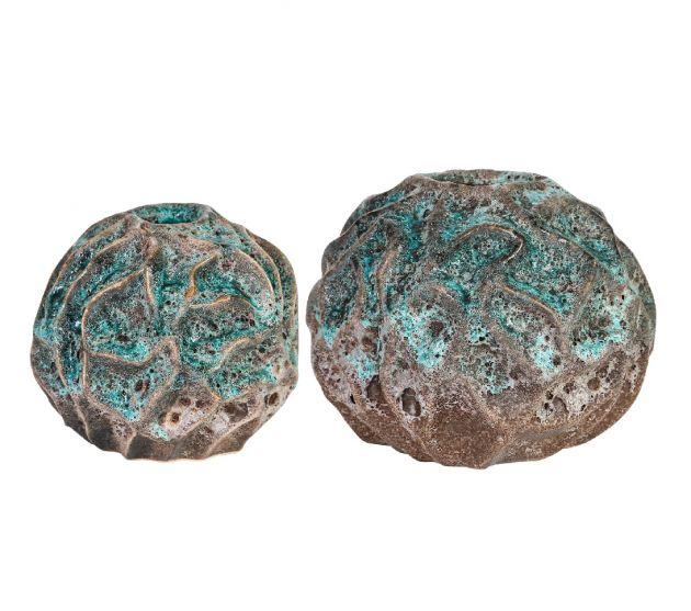 Vaso in ceramica Selena Blue: Vasi Design PTMD