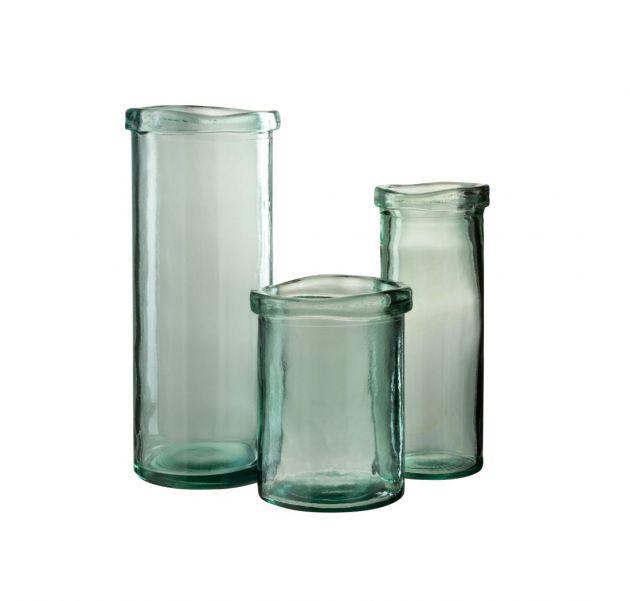 Vaso Blauw : vasi di design in vetro riciclato