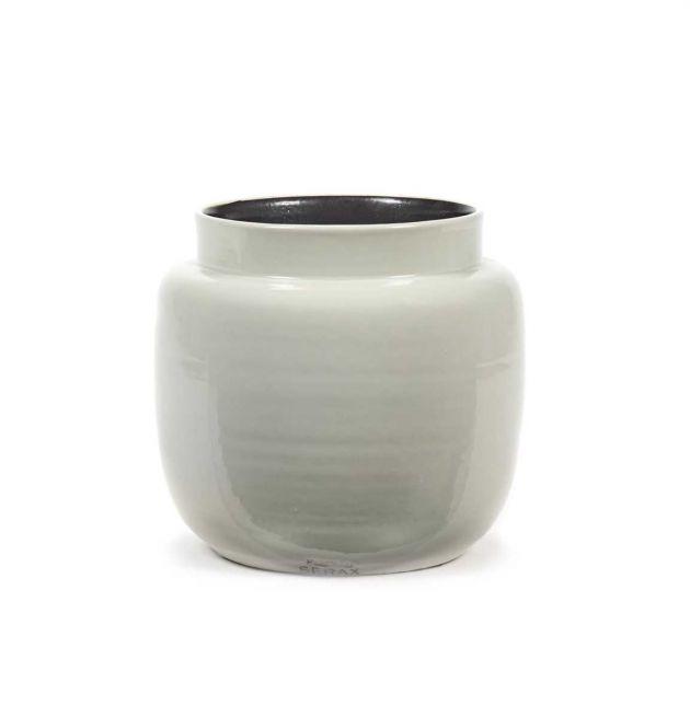 Vaso pentola in ceramica bianca : Vasi design Serax