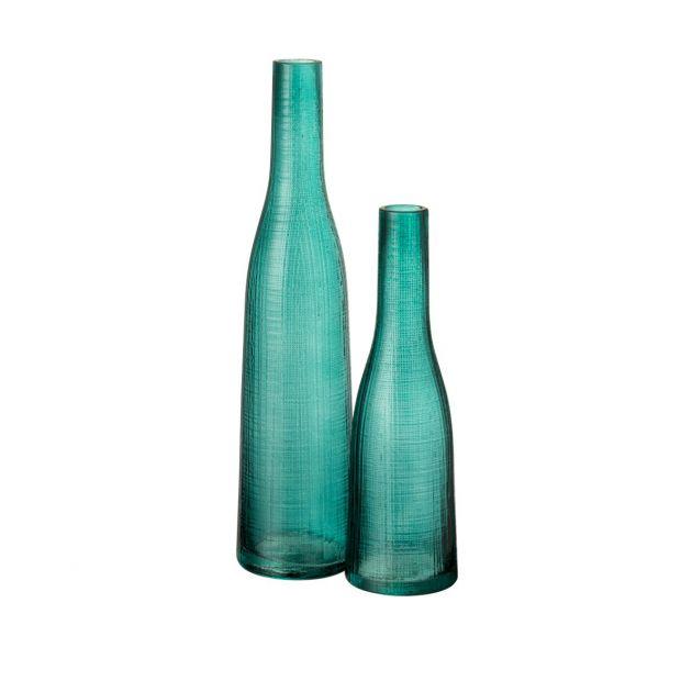 Vaso Mila : Vasi di design in vetro di colore blu