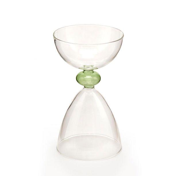 Vaso coppa in vetro H19