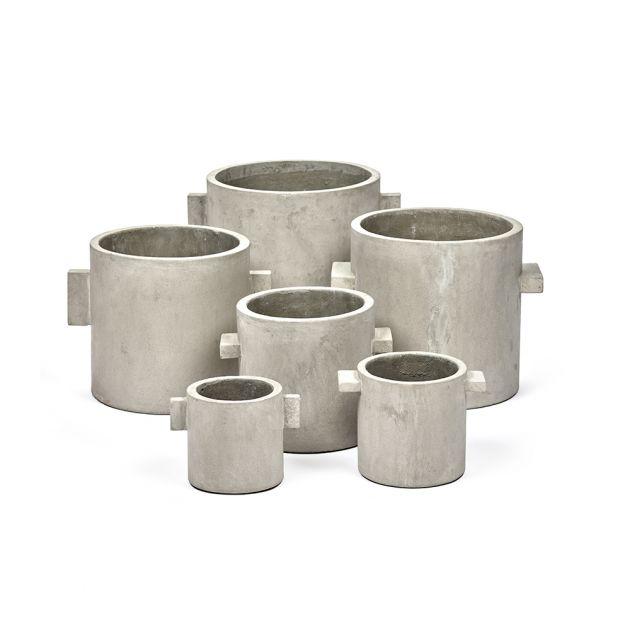 Vaso in cemento naturale tondo : Vasi in cemento design Marie Michielssen