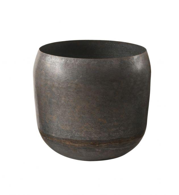 Vaso In Metallo Grezzo H50 : Vasi in metallo di design