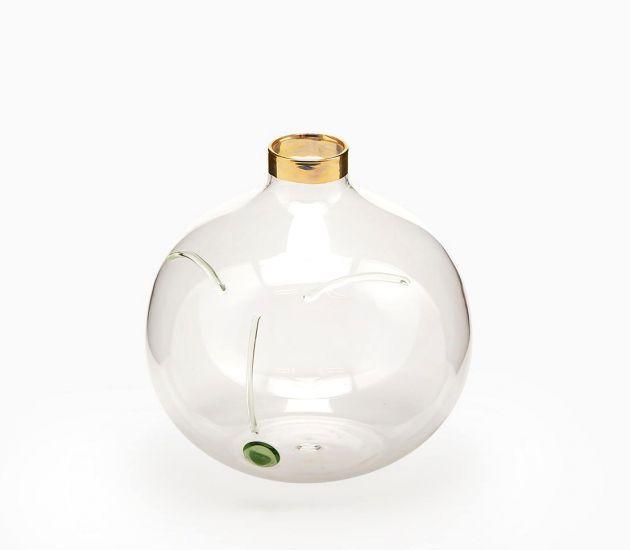 Vaso Faccia Sfera : Vasi di design in vetro