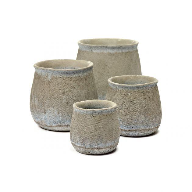 Vaso Jar : Vaso in cemento effetto sacco