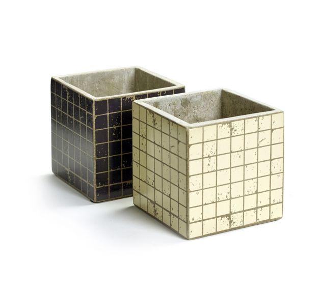Cachepot Marie Mosaico H13: vasi in cemento Serax