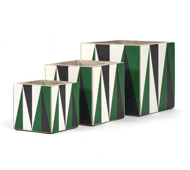 Vaso Marie Black-Green-White : Vasi di design in cemento