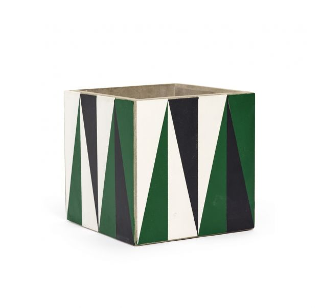 Vaso Marie Black-Green-White H22 : Vasi di design in cemento