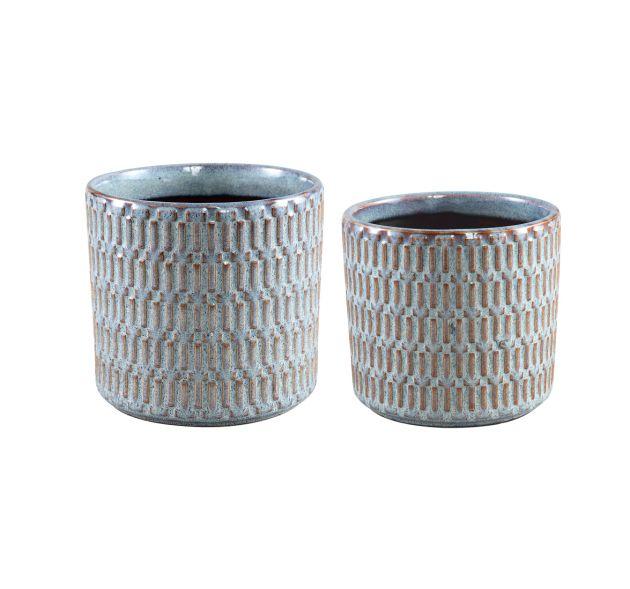 Vaso Tenzin Blue | Vaso in ceramica smaltata blu