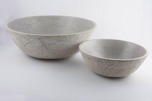 Set 2 ciotole Worthy grigio: vasi in cemento da esterno D&M
