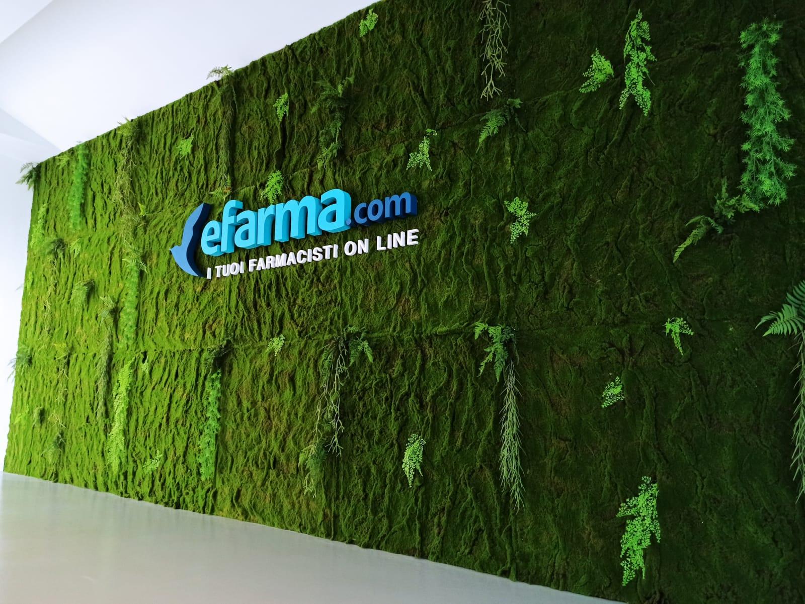 Ripartire in verde: le pareti di verde verticale per eFarma