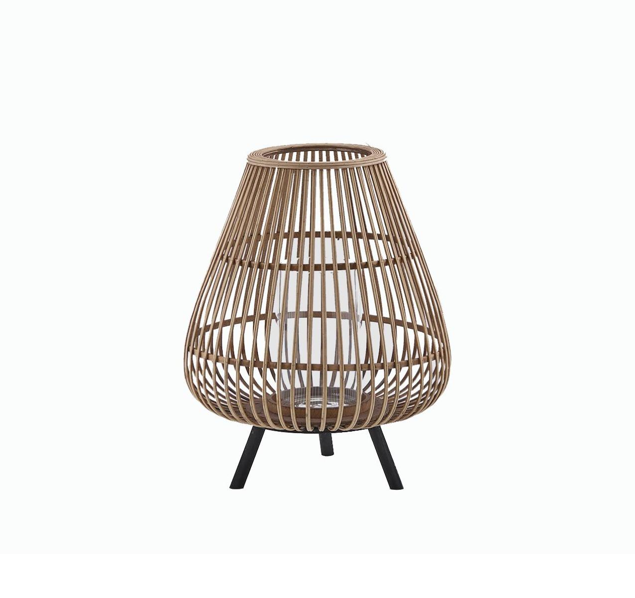 Lanterna in Bambù con piedini in legno H46