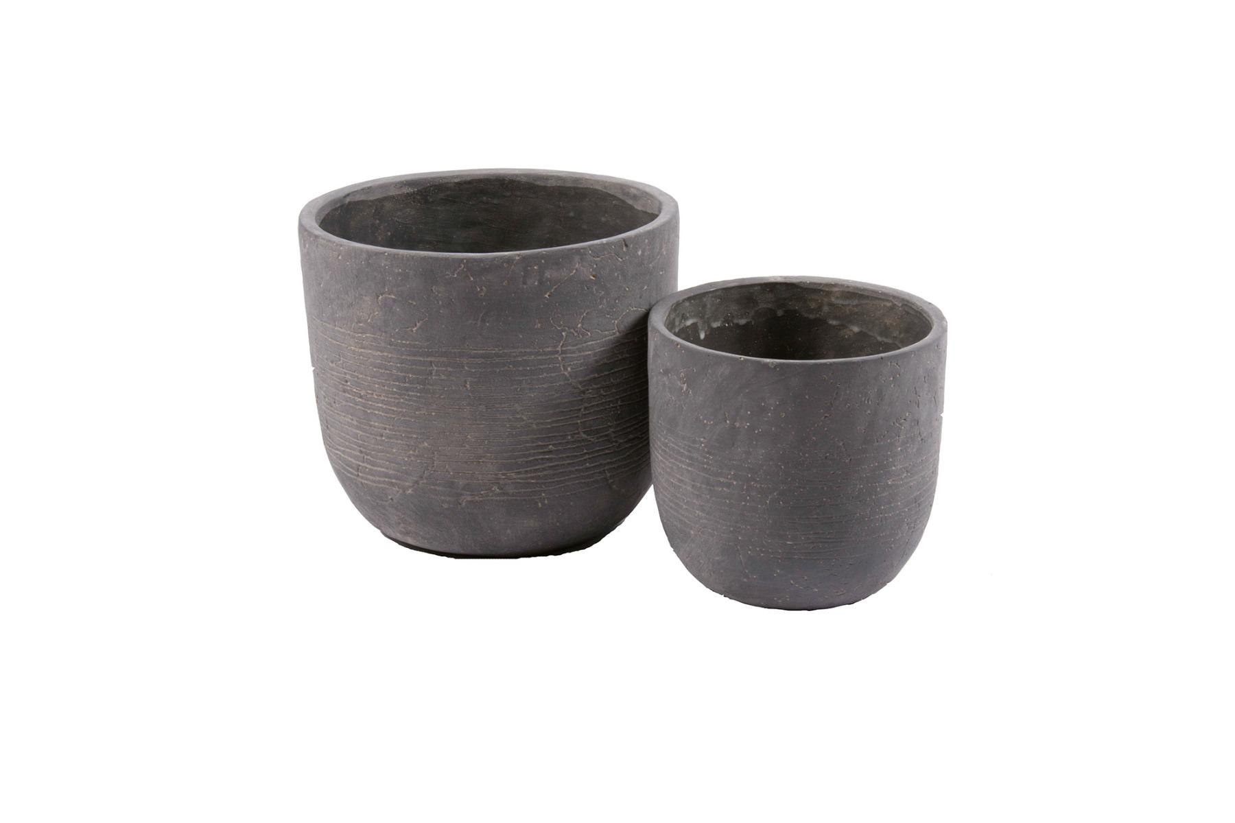 Set/2 Vasi Worthy Dark Grey